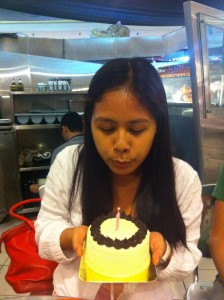 Blow the candle, make a wish!
